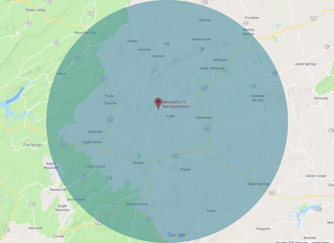 Boone NC Home Inspections Service Area